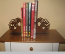 Pair of Jeep Bookends, Rustic Handcrafted Metal