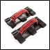 Paracord Grab Handles Jeep CJ, Wrangler 1955-2017 Blk/Red Rugged Ridge