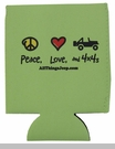 """""""Peace, Love, and 4x4s"""" Neoprene Koozie by All Things Jeep - Set of 2"""