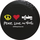 """""""Peace, Love, and 4x4s"""" Tire Cover"""