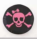 Pirate Girl Jolly Roger Tire Cover, Pink Graphic