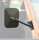 Quick Release Rect Side Mirror Wrangler 1997-2017 Txtrd Blk Pair