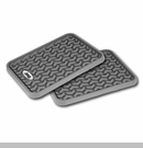 Rear Floor Liners with Jeep Logo, Universal Gry Rugged Ridge