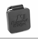 Receiver Hitch Plug w/Rugged Ridge Logo Black Rugged Ridge - 2""