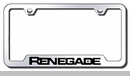 Renegade Laser Etched Cut-Out Frame - Stainless Steel