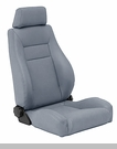 Replacement Front Seat w/Recliner CJ & Wranglers 1976-2006 Gray Denim
