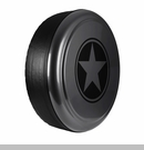 Freedom Star Design in Dark Charcoal Pearlcoat, Rigid Tire Cover