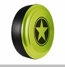 Freedom Star Design in Hyper Green, Rigid Tire Cover
