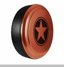 Freedom Star Design in Mango Tango Pearlcoat, Rigid Tire Cover