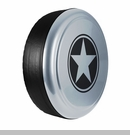 Freedom Star Design in Winter Chill Pearlcoat, Rigid Tire Cover