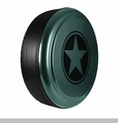 Freedom Star Design in Jeep Green Metallic, Rigid Tire Cover