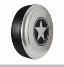 Freedom Star Design in Light Graystone Pearlcoat, Rigid Tire Cover