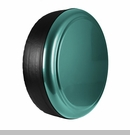 Rigid Tire Cover in Bright Jade Satin Metallic