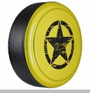 Rigid Tire Cover, OM Star Design, Acid Yellow Paint by Boomerang