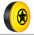 Rigid Tire Cover, OM Star Design, Detonator Yellow by Boomerang