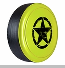 Rigid Tire Cover, OM Star Design, Hypergreen Paint by Boomerang