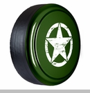 Rigid Tire Cover, OM Star Design, Jeep Green Metallic by Boomerang