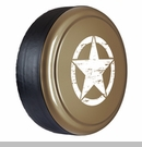 Rigid Tire Cover, OM Star Design, Mojave Sand Paint by Boomerang