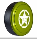 Rigid Tire Cover, OM Star Design, Rescue Green Metallic by Boomerang
