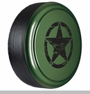 Rigid Tire Cover, OM Star Design, Sarge Green Paint by Boomerang