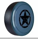 Rigid Tire Cover, OM Star Design, Steel Blue Metallic by Boomerang