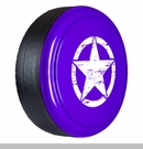 Rigid Tire Cover, OM Star Design, Xtreme Purple Paint by Boomerang