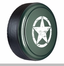 Rigid Tire Cover, Oscar Mike Star Design, Commando Green by Boomerang