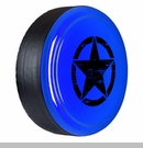 Rigid Tire Cover, Oscar Mike Star Design in Cosmos Blue by Boomerang
