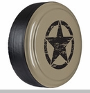 Rigid Tire Cover, Oscar Mike Star Design in Gobi Paint by Boomerang