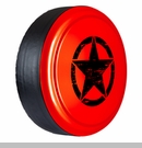 Rigid Tire Cover, Oscar Mike Star Design in Rock Lobster by Boomerang