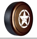 Rigid Tire Cover, Oscar Mike Star Design in Rugged Brown by Boomerang