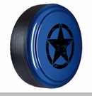 Rigid Tire Cover, Oscar Mike Star Design, True Blue Pearl by Boomerang