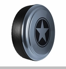 Freedom Star Design in Anvil, Rigid Tire Cover