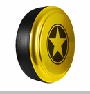 Freedom Star Design in Baja Yellow, Rigid Tire Cover