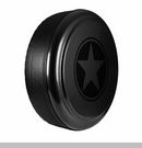 Freedom Star Design in Black, Rigid Tire Cover