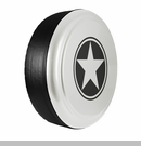 Freedom Star Design in Bright White, Rigid Tire Cover