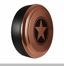 Freedom Star Design in Copper Brown, Rigid Tire Cover