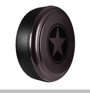 Freedom Star Design in Rugged Brown, Rigid Tire Cover