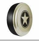 Freedom Star Design in Sahara Tan, Rigid Tire Cover