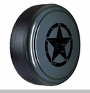 Rigid Tire Cover with Oscar Mike Star Design in Anvil by Boomerang