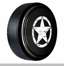 Rigid Tire Cover with Oscar Mike Star Design in Black by Boomerang