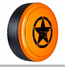 Rigid Tire Cover with Oscar Mike Star Design in Crush by Boomerang