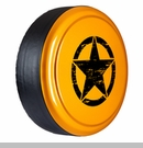 Rigid Tire Cover with Oscar Mike Star Design in Dozer by Boomerang