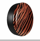 Zebra Print Design in Mango Tango, Rigid Tire Cover