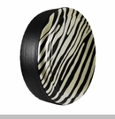 Zebra Print Design in Sahara Tan, Rigid Tire Cover