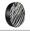 Zebra Print Design in Stone White, Rigid Tire Cover