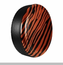 Zebra Print Design in Sunset Orange, Rigid Tire Cover