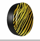 Zebra Print Design in Detonator Yellow, Rigid Tire Cover