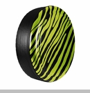 Zebra Print Design in Hyper Green, Rigid Tire Cover