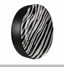 Zebra Print Design in Light Graystone Pearlcoat, Rigid Tire Cover
